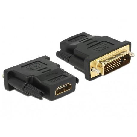 Adaptador DVI 24+1 pin macho para HDMI fêmea Delock